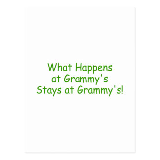 What Happens At Grammys Green Postcard