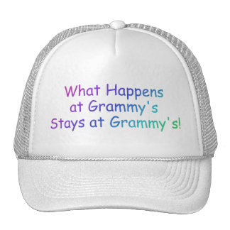 What Happens At Grammys Multi Colored Trucker Hat