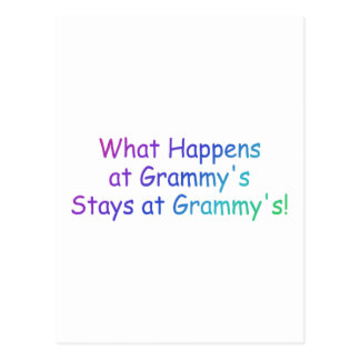 What Happens At Grammys Multi Colored Postcard