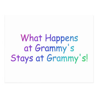What Happens At Grammys Multi Colored Post Card