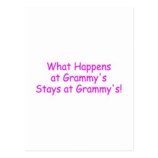 What Happens At Grammys Pink Postcard