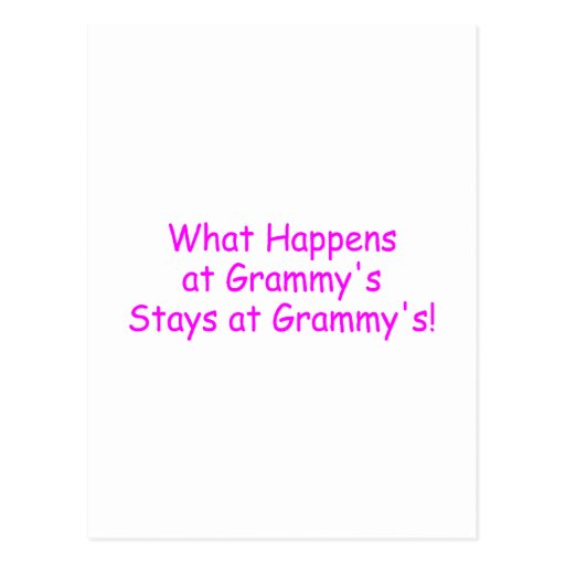 What Happens At Grammys Pink Post Cards