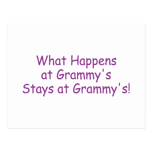 What Happens At Grammys Purple Post Cards
