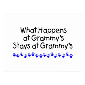 What Happens At Grammys With Blue Handprints Postcard
