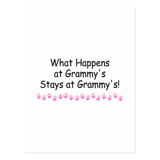 What Happens At Grammys With Pink Handprints 2 Post Card