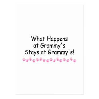 What Happens At Grammys With Pink Handprints 2 Postcard
