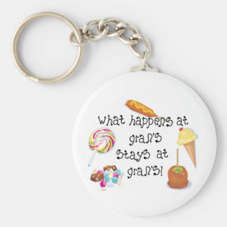 What Happens at Gran's STAYS at Gran's! Basic Round Button Key Ring