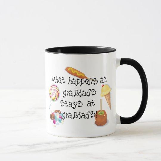 What Happens at Grandad's STAYS at Grandad's Mug