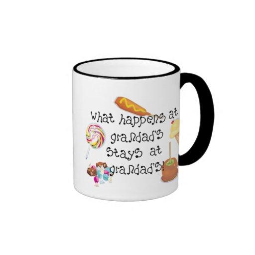 What Happens at Grandad's STAYS at Grandad's Ringer Mug