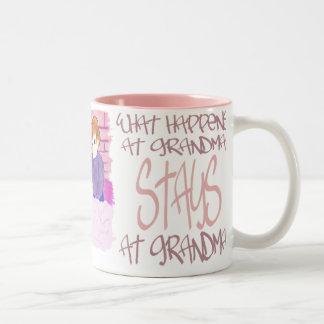 What Happens At Grandmas4 Two-Tone Mug