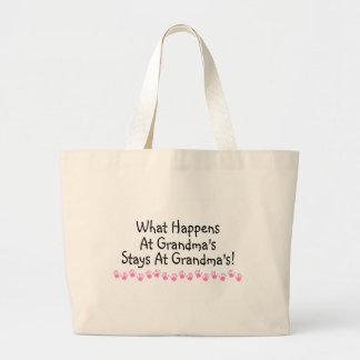 What Happens At Grandmas Stays At Grandmas Canvas Bags