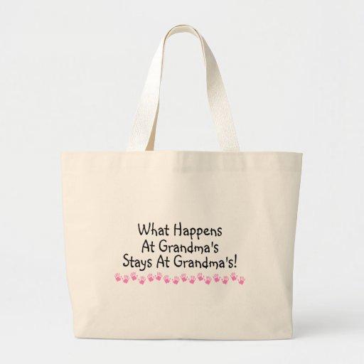 What Happens At Grandmas Stays At Grandmas Canvas Bag