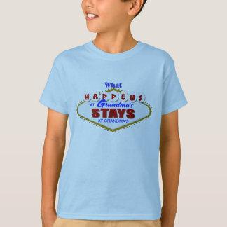 What happens at Grandma's stays at Grandma's. T-Shirt