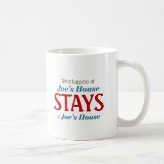 What happens at Joe's house Coffee Mug