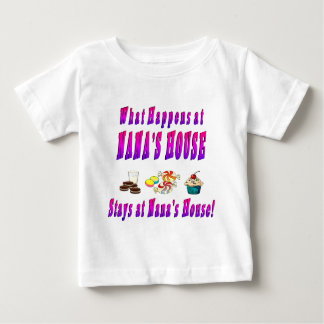What Happens At Nanas House Pink Baby T-Shirt