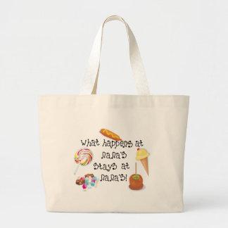 What Happens at Nana's STAYS at Nana's! Jumbo Tote Bag