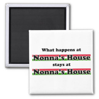 What Happens At Nonna's House Square Magnet