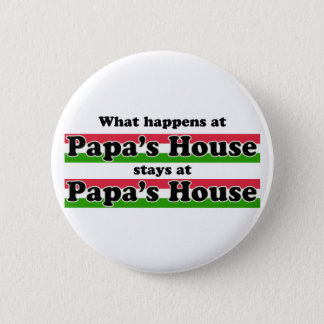 What Happens At Papas House 6 Cm Round Badge