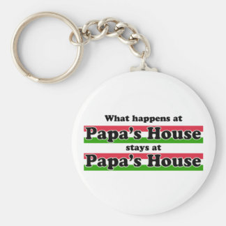 What Happens At Papas House Keychains