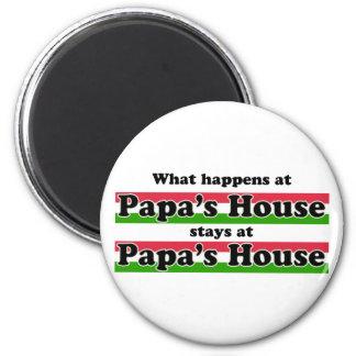What Happens At Papas House Refrigerator Magnet