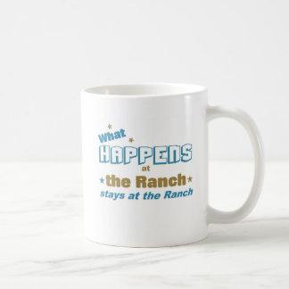 What happens at the ranch basic white mug