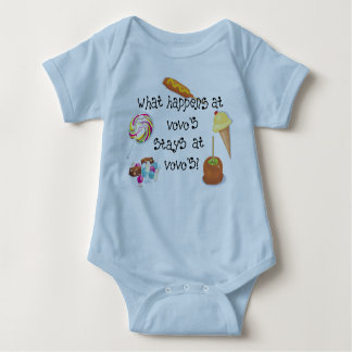 What Happens at Vovo's STAYS at Vovo's! Baby Bodysuit