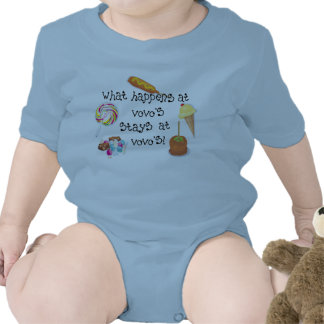 What Happens at Vovo's STAYS at Vovo's! Baby Bodysuits