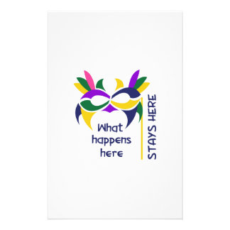 WHAT HAPPENS HERE STATIONERY DESIGN