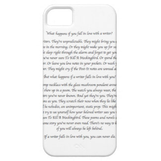 What Happens If You Fall in Love With a Writer? iPhone 5 Cover