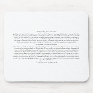 What Happens If You Fall in Love With a Writer? Mouse Mat