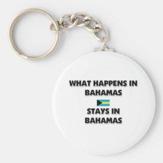 What Happens In BAHAMAS Stays There Basic Round Button Key Ring