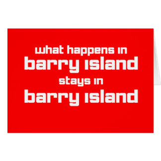 What Happens in Barry Greeting Card