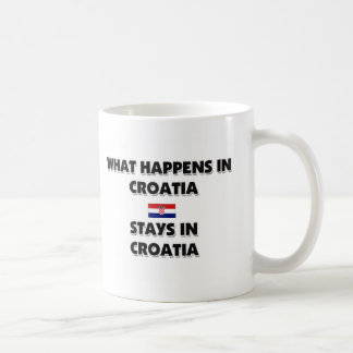 What Happens In CROATIA Stays There Basic White Mug