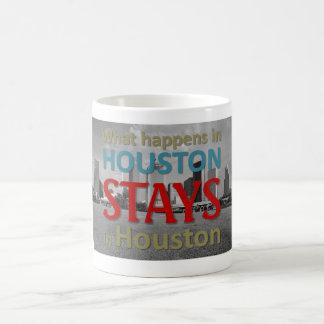 What happens in Houston Basic White Mug
