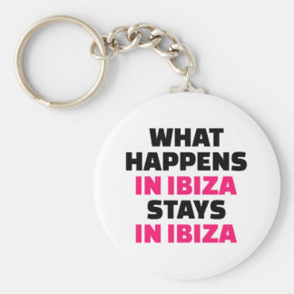 What happens in Ibiza stays Ibiza Basic Round Button Key Ring