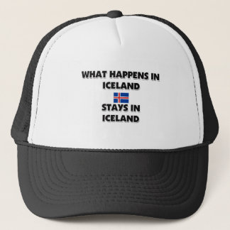 What Happens In ICELAND Stays There Trucker Hat