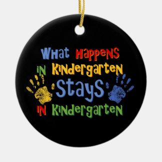 What Happens In Kindergarten Personalized Ornament
