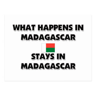 What Happens In MADAGASCAR Stays There Postcard