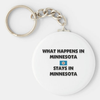What Happens In MINNESOTA Stays There Basic Round Button Key Ring
