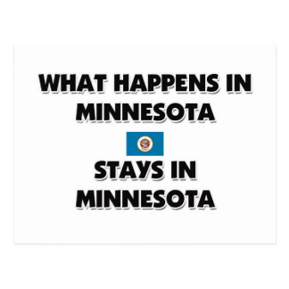 What Happens In MINNESOTA Stays There Postcard