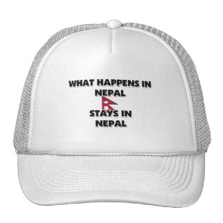 What Happens In NEPAL Stays There Trucker Hats