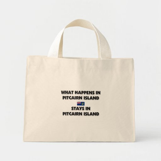 What Happens In PITCAIRN ISLAND Stays There Mini Tote Bag