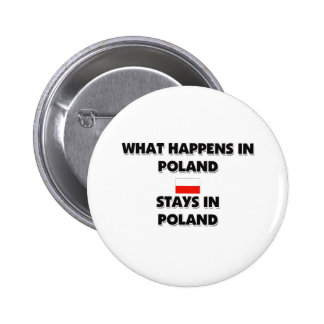 What Happens In POLAND Stays There 6 Cm Round Badge