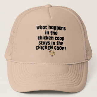 What Happens in the Chicken Coop Trucker Hat