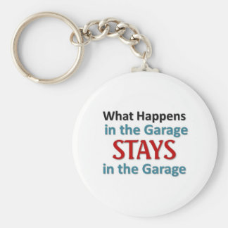 What happens in the Garage Basic Round Button Key Ring