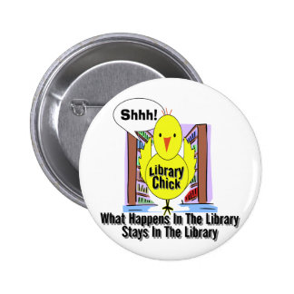 What Happens In The Library... 6 Cm Round Badge