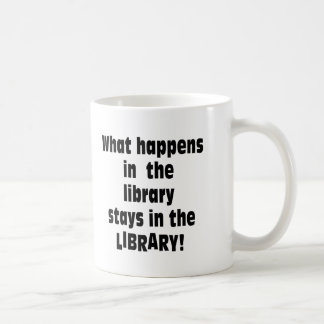 What Happens in the Library Basic White Mug