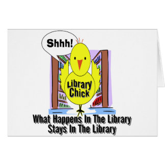 What Happens In The Library... Greeting Card