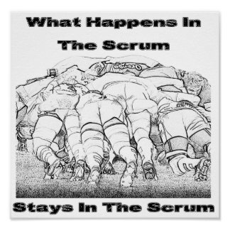 What Happens In The Scrum - Poster