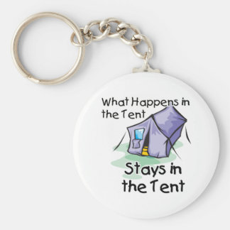 What Happens in the Tent Basic Round Button Key Ring